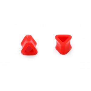 Tunel silicon triunghiular rosu 14mm