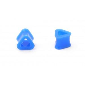 Tunel silicon triunghiular albastru 10mm